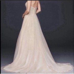 David's Bridal Champagne Wedding Dress